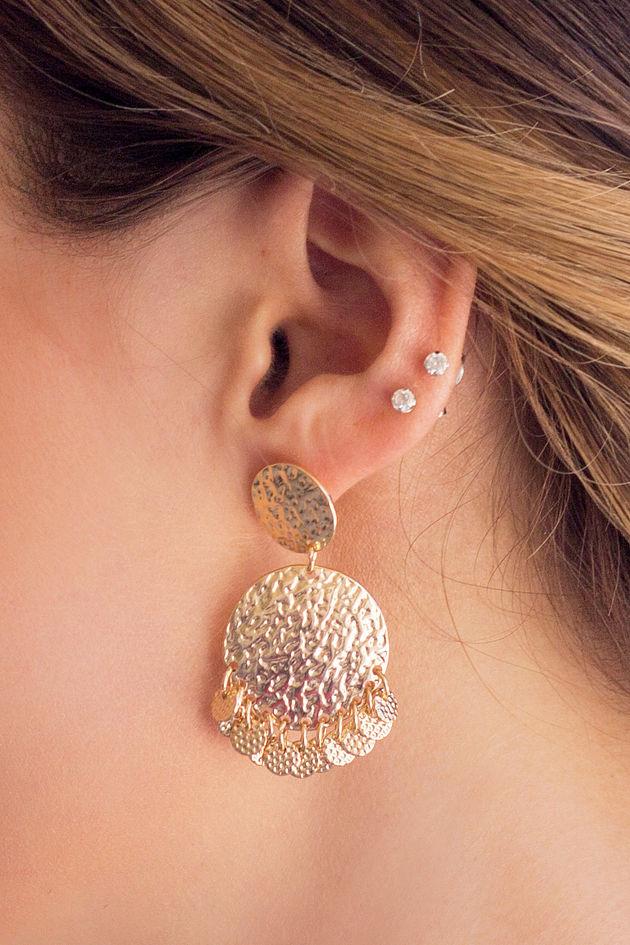 Hammer & gold Earrings
