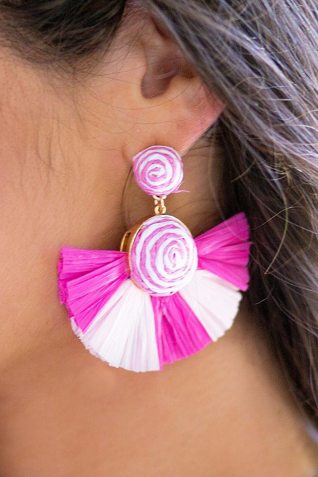 Tropicana Fan Earrings