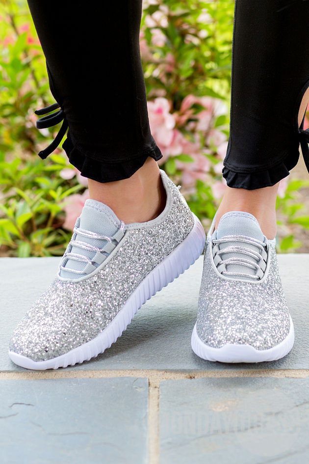 All That Glitters Sneakers in Silver