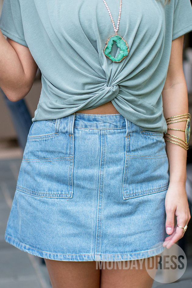 The Way We Walk Denim Skirt