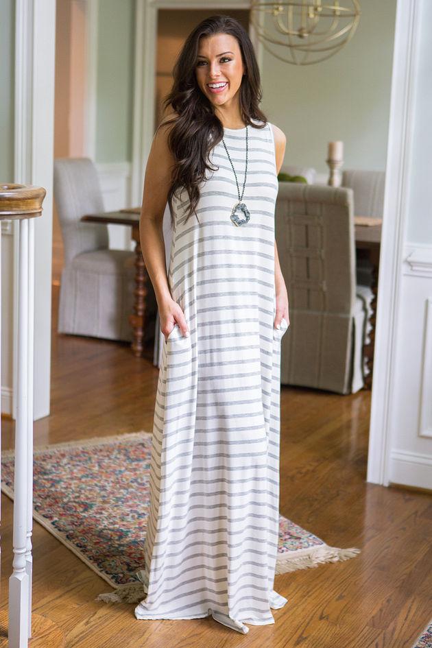 Walk The Line Maxi Dress
