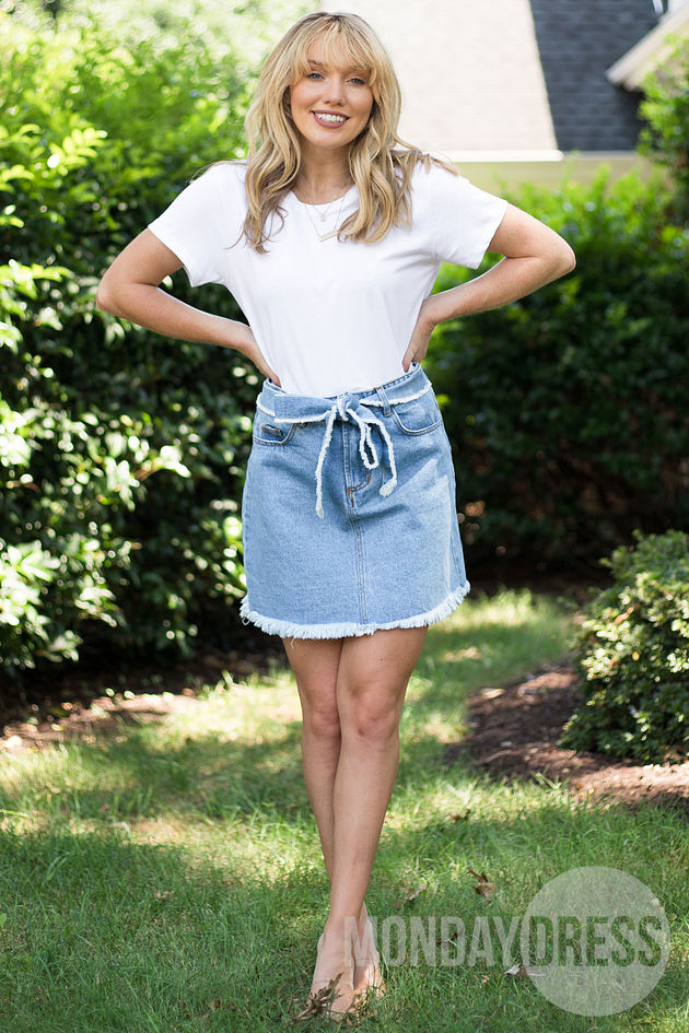 Backroad Bliss Denim Skirt
