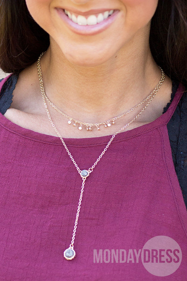 Free Thinker Necklace in Grey