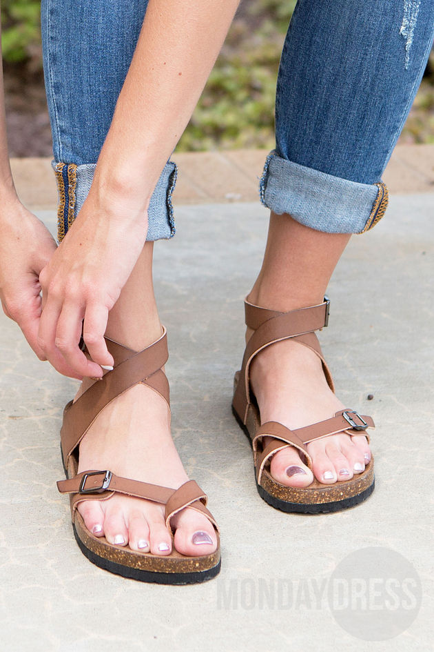 Find Your Love Sandals in Brown