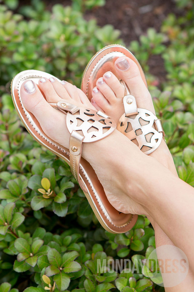 All That's Perfect Sandals in Rose Gold