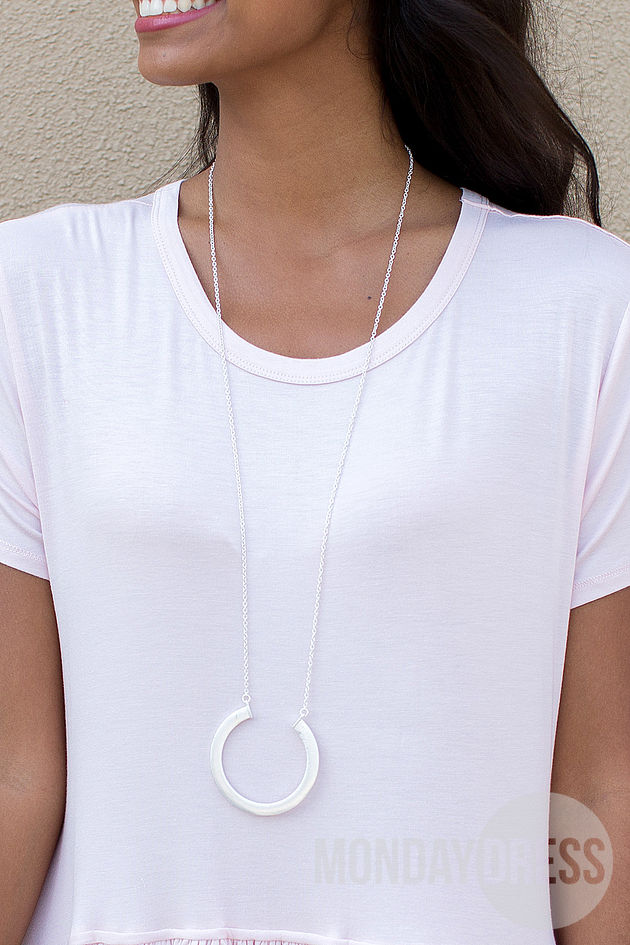 Circle of Life Necklace in Silver