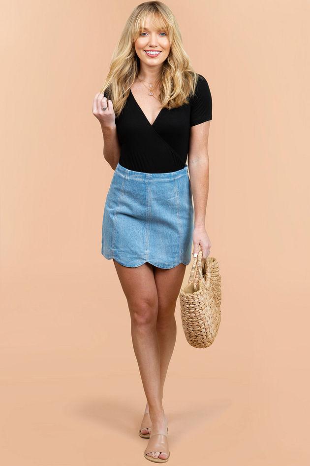Whisper Scalloped Skirt