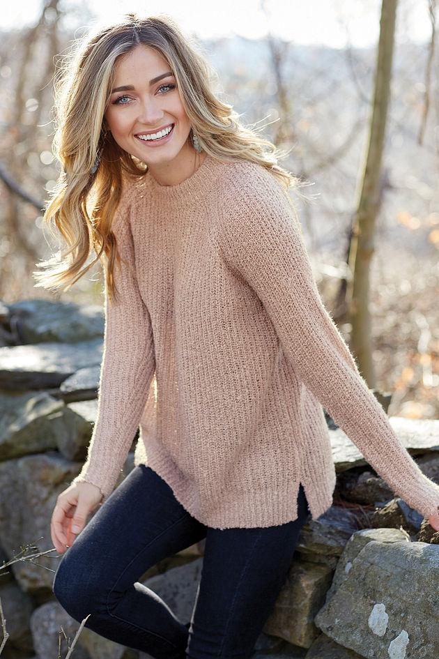 Mara Sweater in Rose