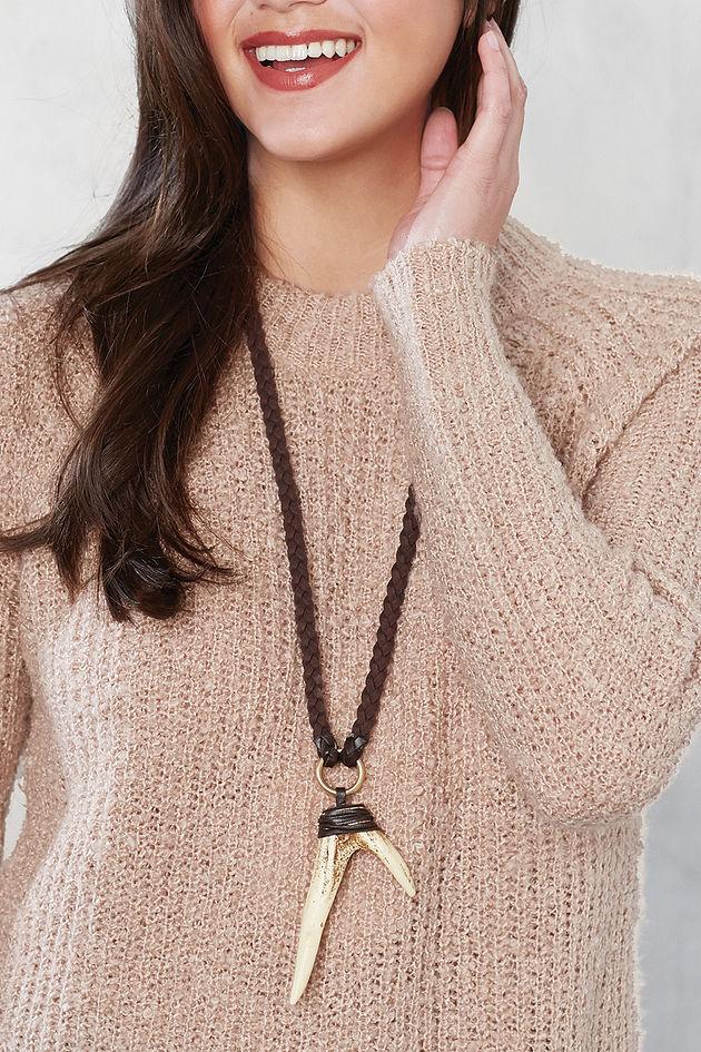 Antler Necklace in Cream