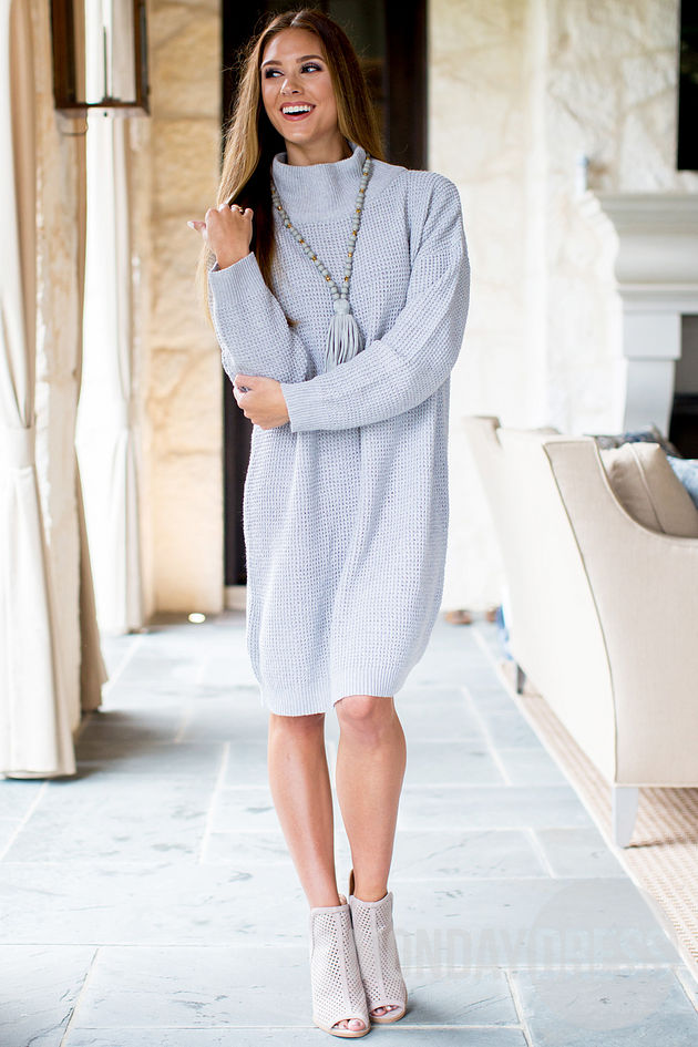 Sparrow Sweater Dress in Gray