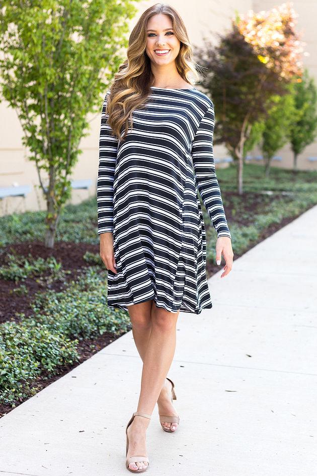 Jocelyn Dress in Stripes