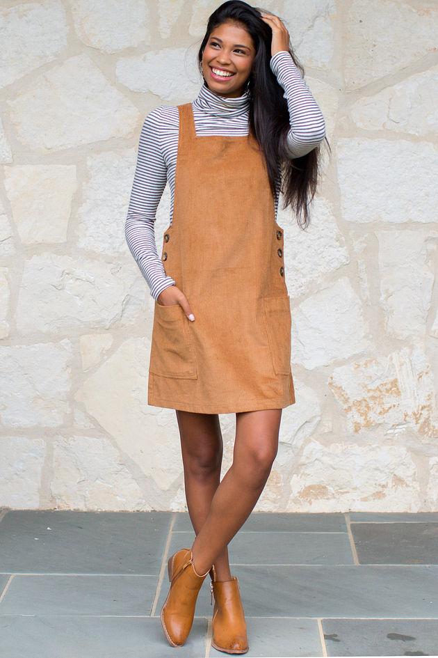 Harvest Moon Corduroy Overall Dress