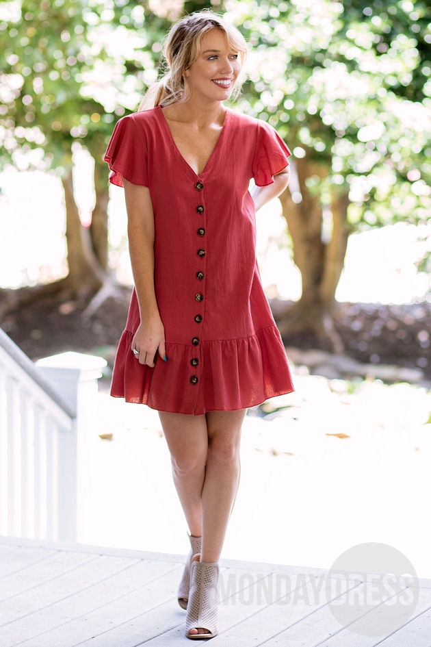 Sweet Attraction Dress in Red