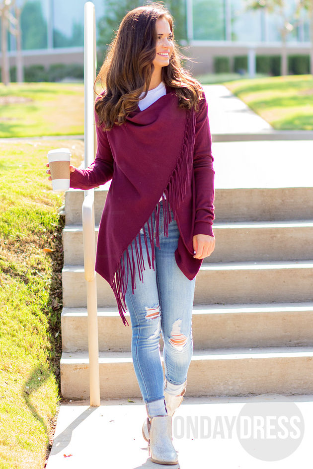 Walking Stories Sweater in Mulberry