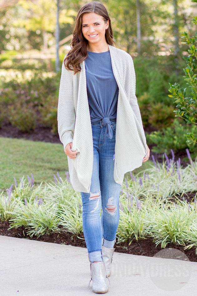 Chill In The Air Cardigan in Sage