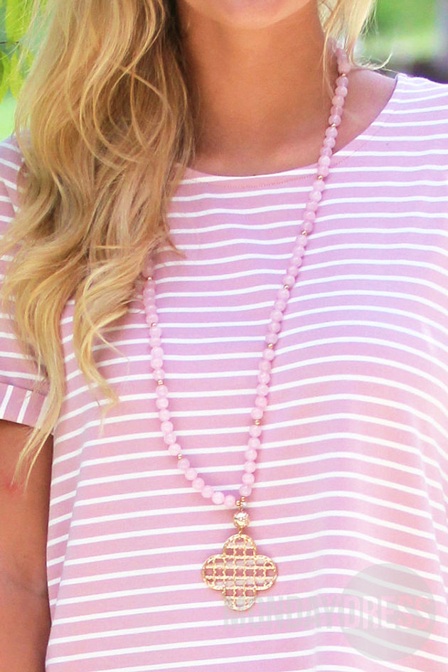 A Touch Of Pretty Necklace in Blush