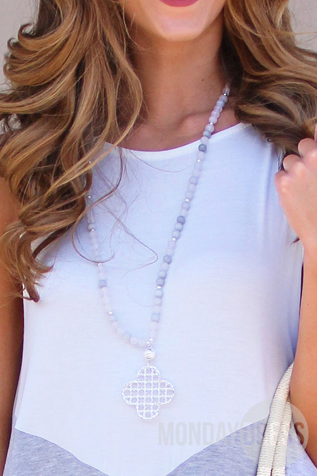 A Touch Of Pretty Necklace in Gray