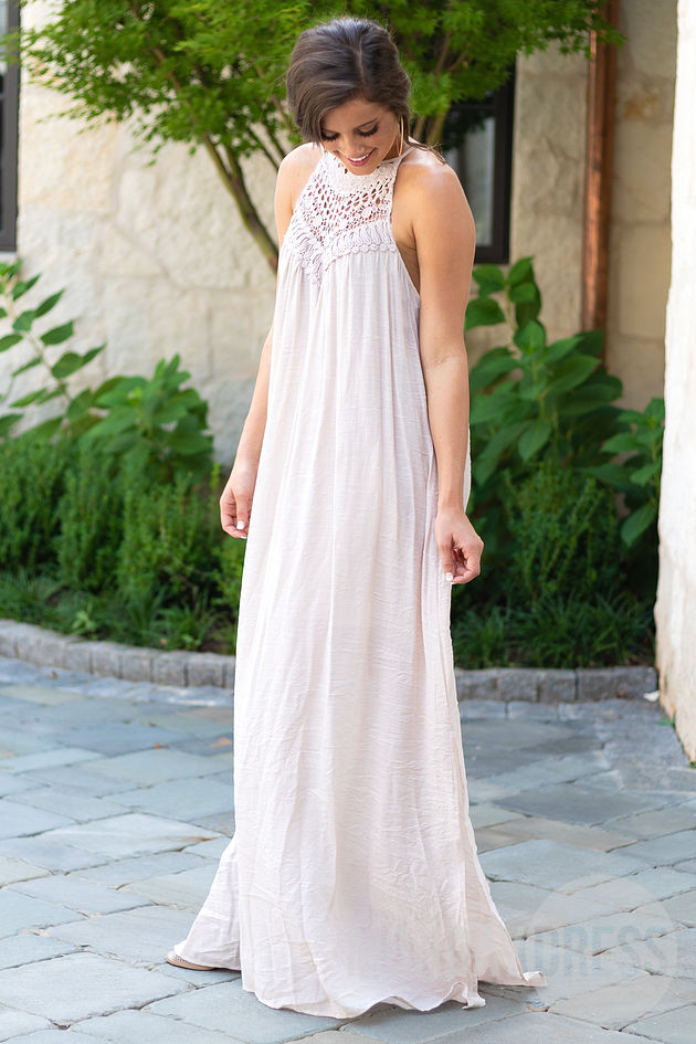 California Champagne Maxi Dress