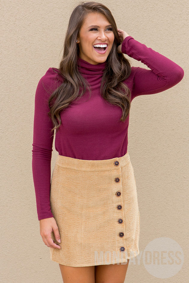 Sunny Afternoon Skirt in Camel