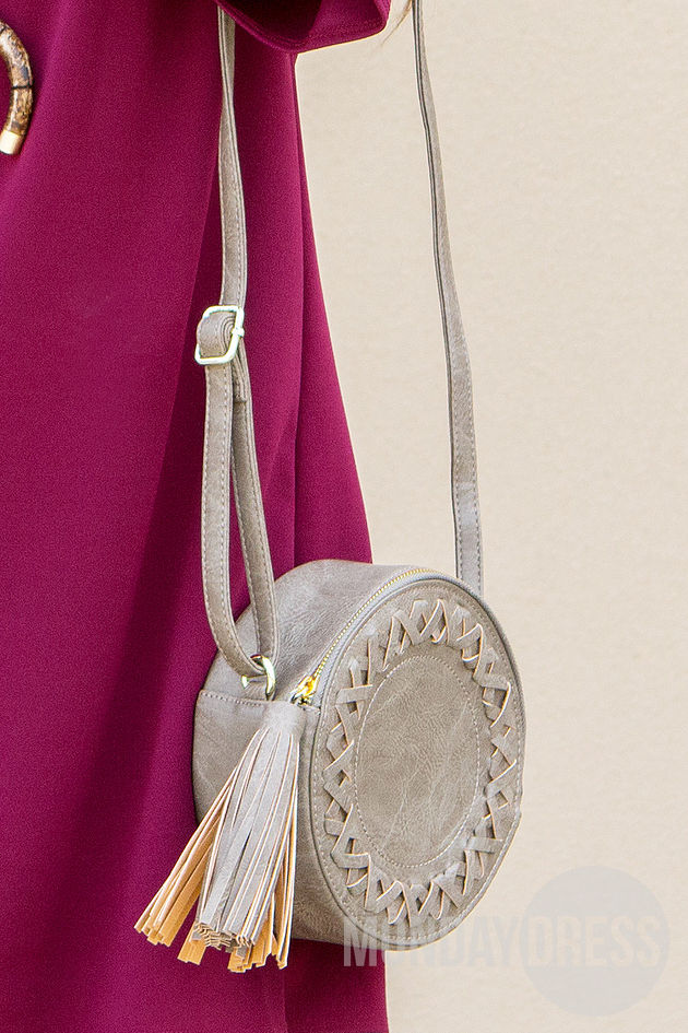 Canteen Crossbody Purse in Taupe