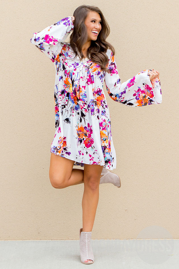 Kiss Full Of Color Dress in Pink and Royal