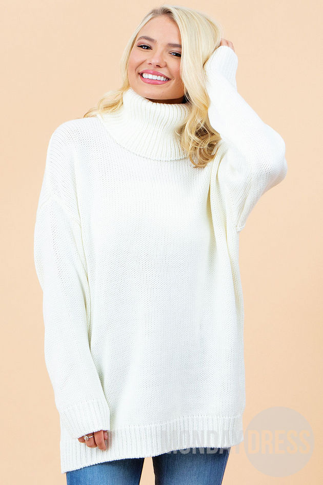 She Loves To Love Sweater in Ivory