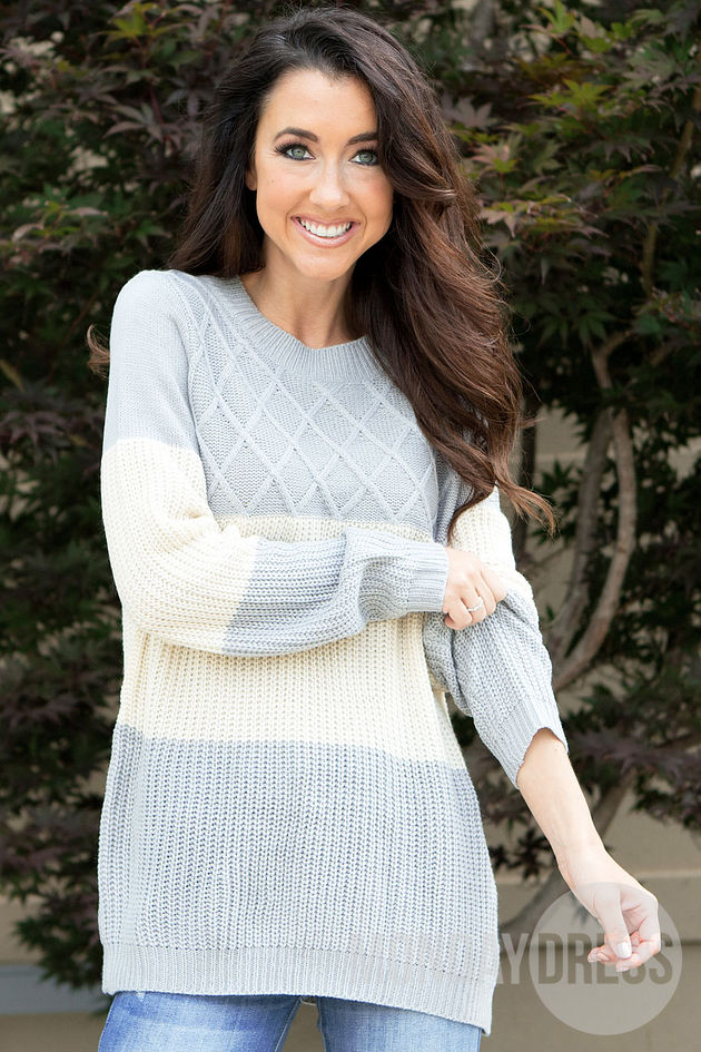 A Touch Of Grey Sweater
