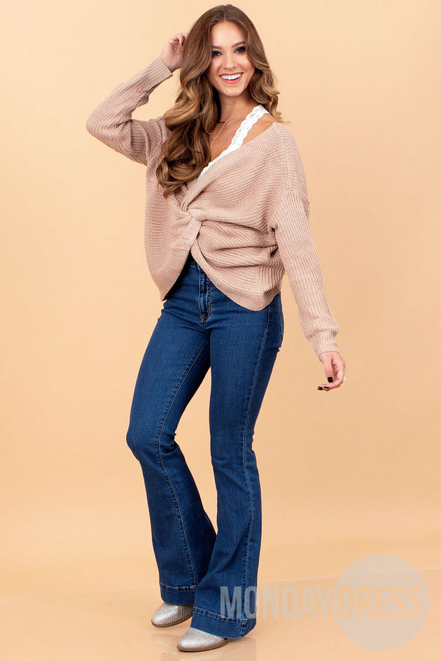 Breathless Sweater in Taupe