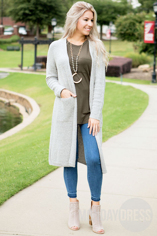 Anniston Cardigan in Gray