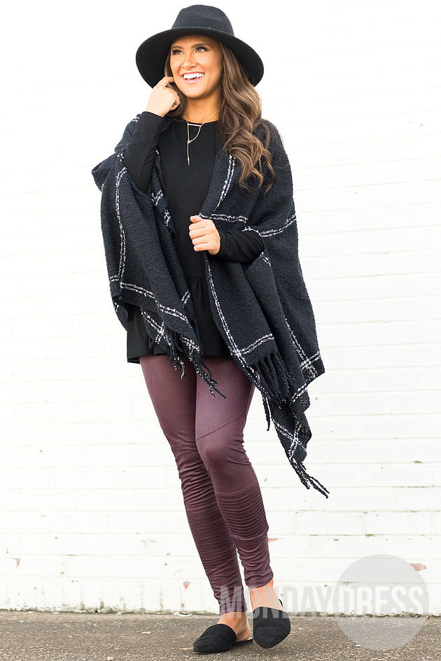 Lexington Scarf Wrap in Black