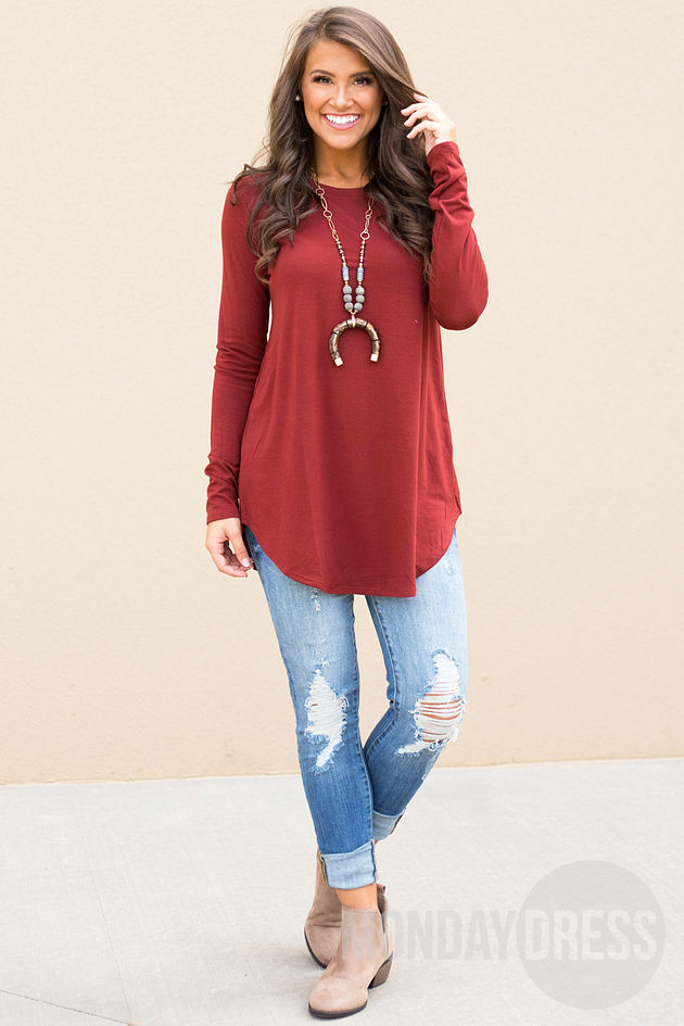 Back to the Basics Top in Brick