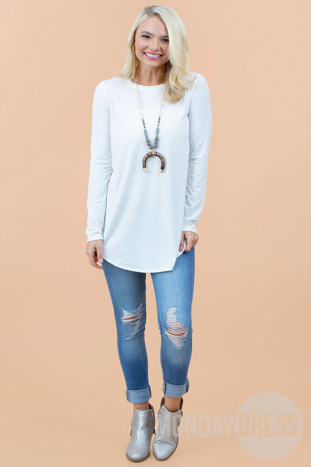 Back to the Basics Top in Ivory
