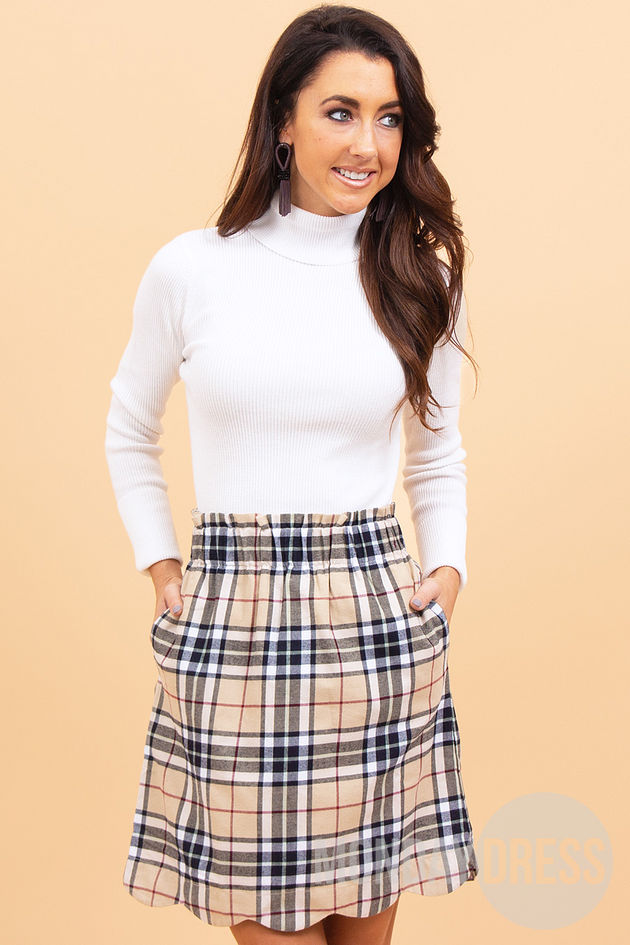 Cheery and Bright Skirt in Camel