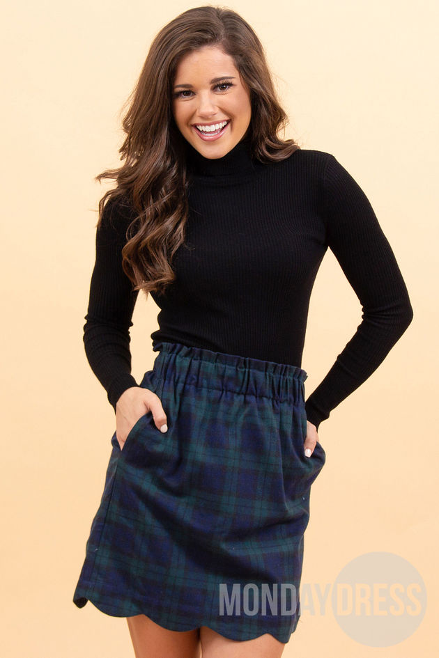 Cheery and Bright Skirt in Navy
