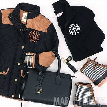 monogram black clothing and accessories