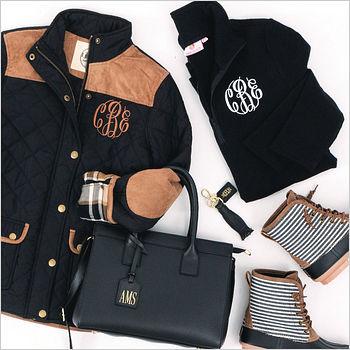 monogram black clothing and accessories