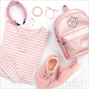 pink monogram clothing and accessories