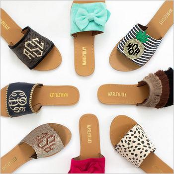 monogram sandal collection