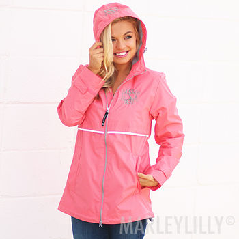 Monogrammed Waterproof Rain Jackets