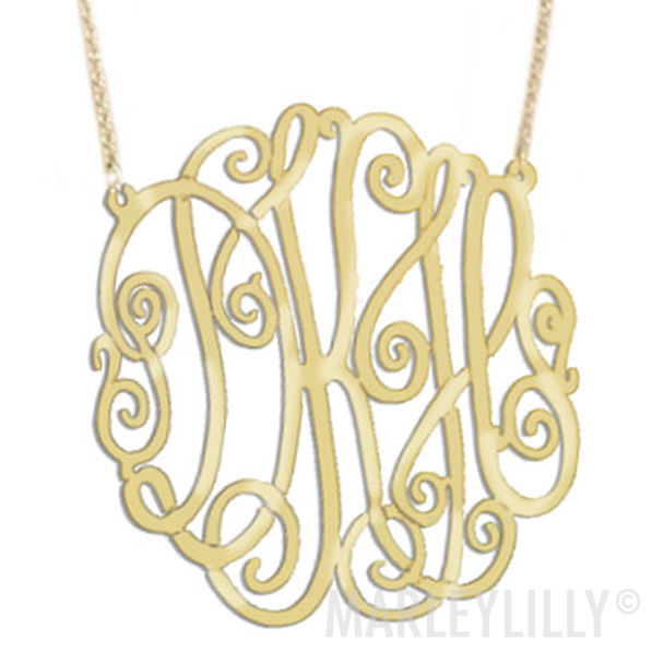 Monogrammed Lacey Necklace