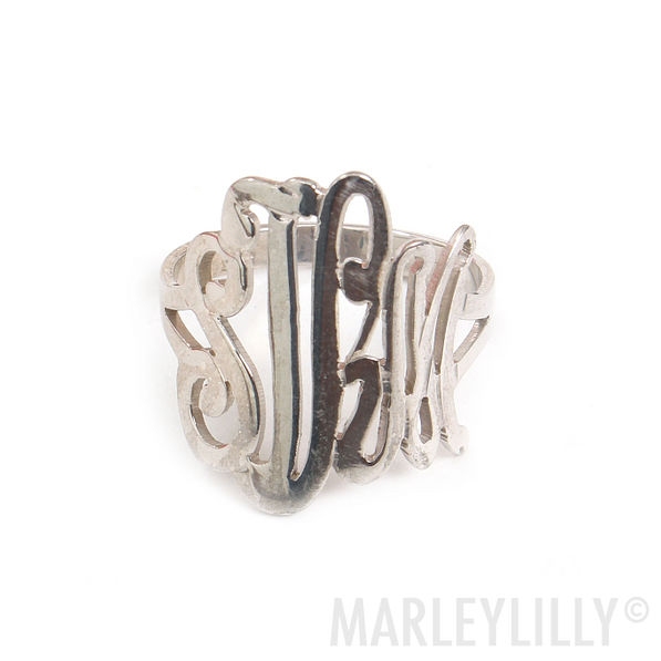 Monogrammed Cut Out Ring