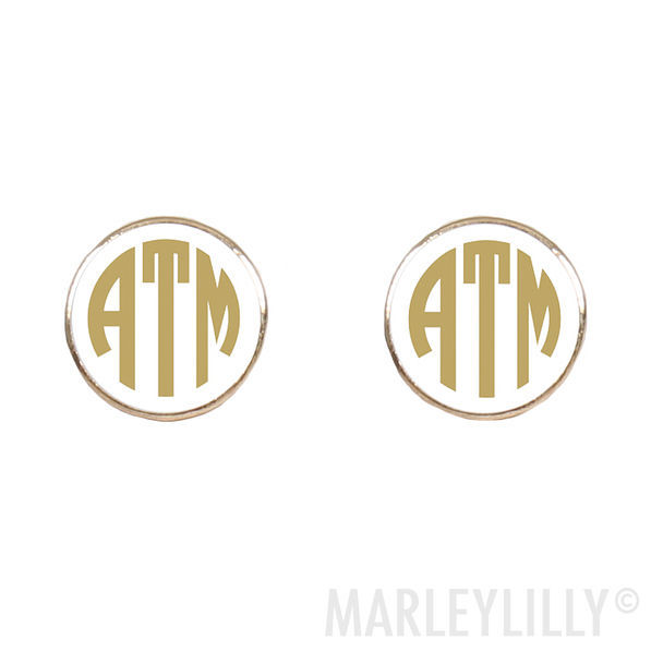 Circular Gold Custom Earrings by Marley Lilly