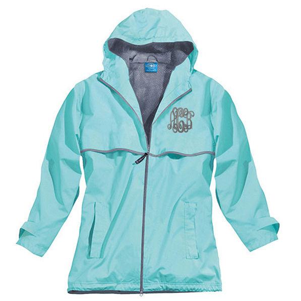 Monogrammed Rain Jacket Women S New Englander Jacket