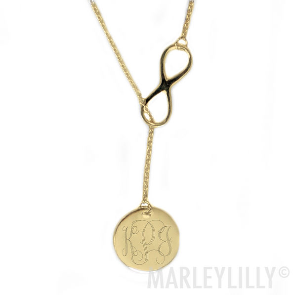Monogrammed Infinity Necklace