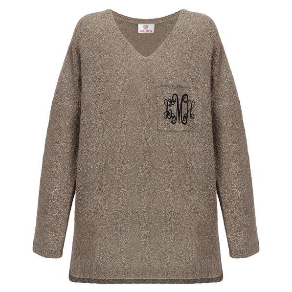 Monogrammed Boyfriend Sweater