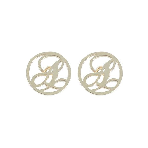 Single Initial Script Earrings