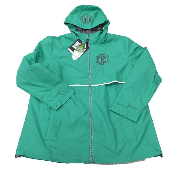 BLOOPER: Monogrammed New England Rain Jacket