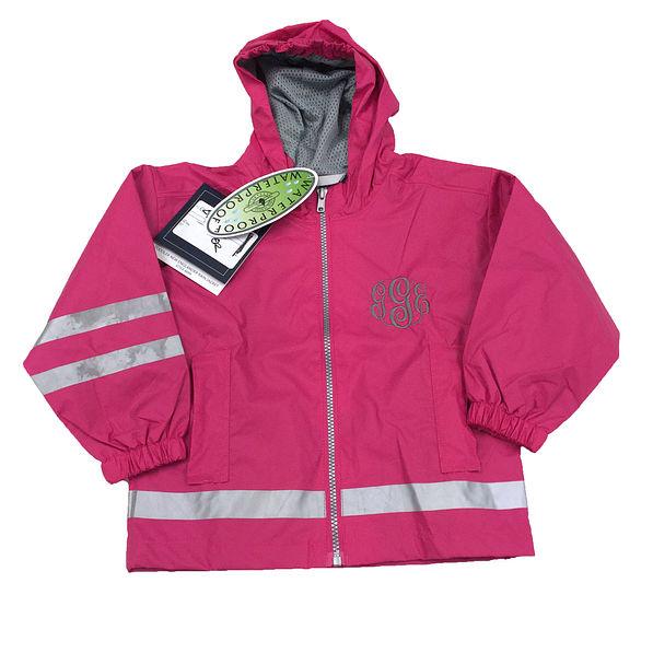 BLOOPER: Monogrammed Kid's New England Rain Jacket