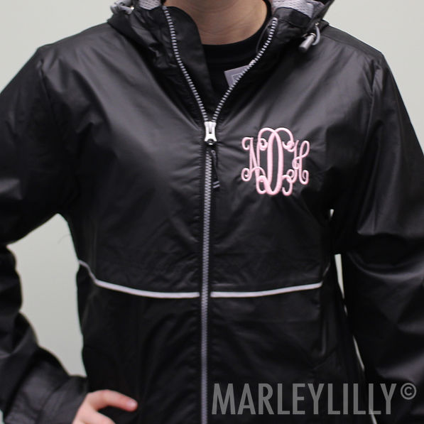 View model info BLOOPER  Monogrammed New England Rain Jacket 7ad55b41d0cc