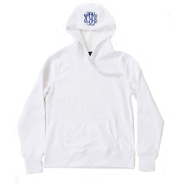 BLOOPER: Monogrammed Pullover Hooded Sweatshirt